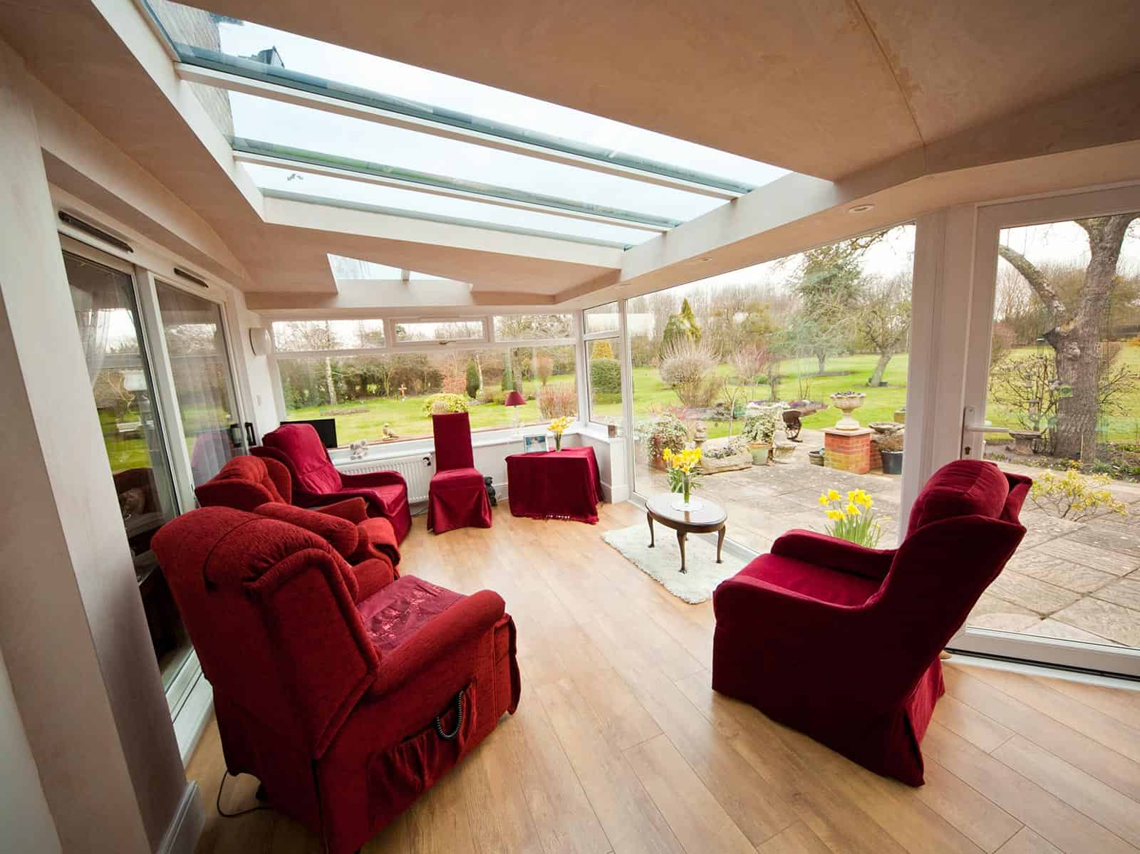 interior lean-to conservatory