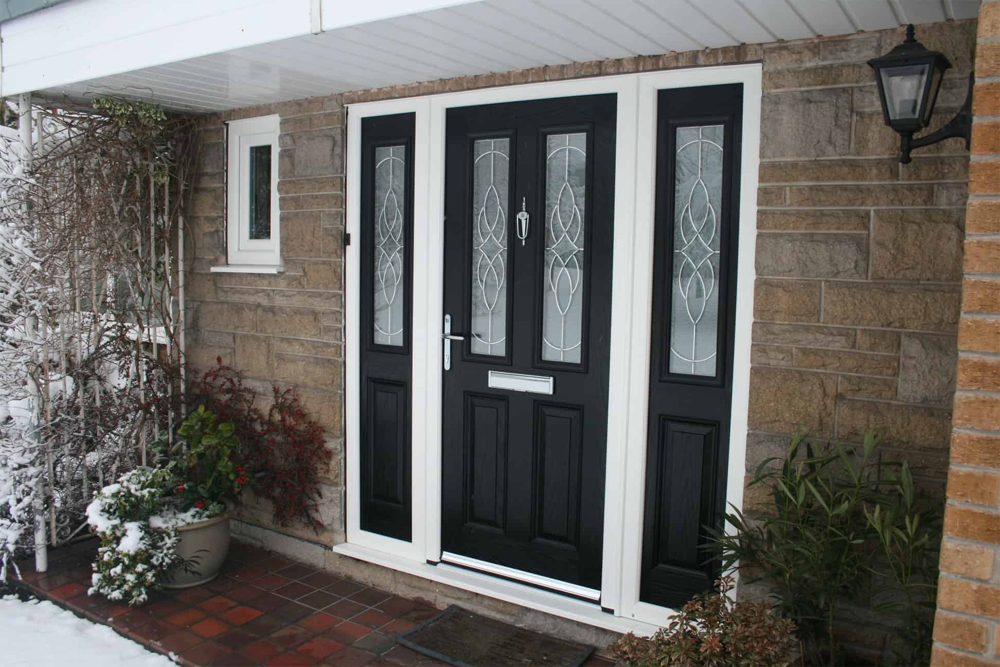 Black Composite Door and Side Panels