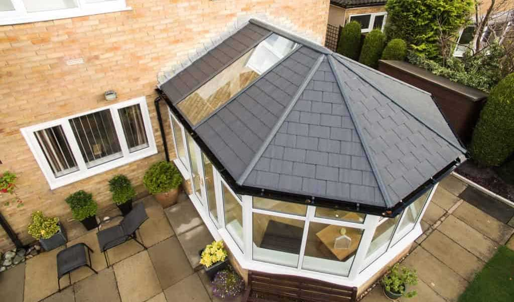 Real Roof Tiled Conservatory Effect Roof